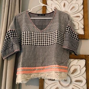Gypsy 05 Global Village blouse top size small
